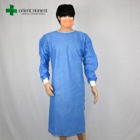 China China surgical gown manufacturer,China disposable gowns manufacturers,blue non woven surgical gown supplier factory