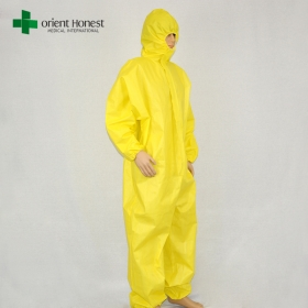 China China workwear product type coverall,type 5 type 6 impervious coverall, chemical resistant coverall disposable factory