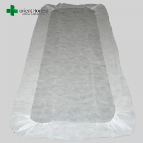 China Chinese best manufacturers for disposable bed sheet with elastic , breathable disposable mattress cover , Polypropylene hospital fitted bed sheets factory