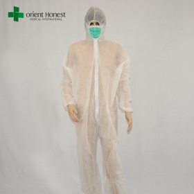 China Chinese cheap safety work overall,white disposable PP working coverall,disposable dust workwear overall factory