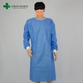 China Chinese surgical gown non sterile,disposable SMMS surgery gowns,wholesale SMMS surgical gown factory