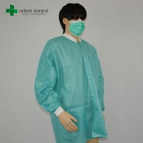 China Chinese vendor for disposable smocks,the best supplier acid resistant lab coat,wholesales disposable chemical lab coat factory