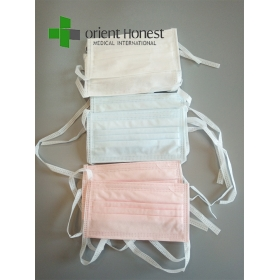 China Disposable 3PLY Tie-on Auto Machine Super Soft Anti-fog Face Mask factory