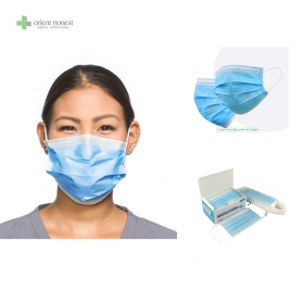 China Disposable  3ply medical mask with earloop with CE ISO13485 FDA hubei manufacturer factory