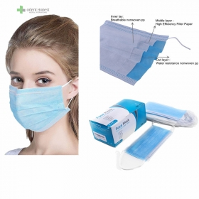 China Disposable  3ply surgical type IIR mask for hospital with CE ISO13485 FDA approved factory