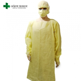 China Disposable Dental Anti Static SMS Gown With Thumb Loop Suppliers factory