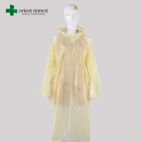 China Disposable PE waterproof poncho supplier in China factory