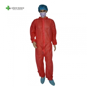 China Disposable PP/PP+PE SMS Microporous protective safety clothing direct manufacturer factory