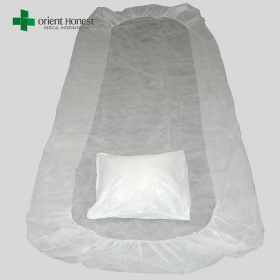 China Disposable bed sheets for hospital maker , disposable surgical pillow case , one time use hotel bed sheet set factory