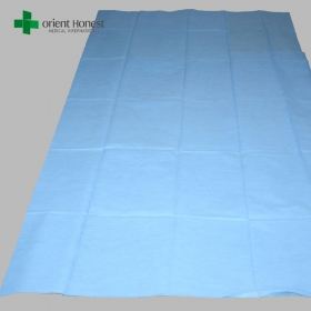 China Disposable cutting sheets for bed , plain disposable hotel bed sheets , disposable hospital bed sheets factory