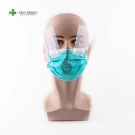 China Disposable non woven  mask with eye shield factory