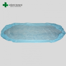 China Disposable waterproof bed sheets with rubber bands , one time use non-woven bed sheets , bed sheets disposable manufacturers factory