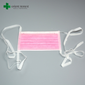 China Doctor and patient tie on mask , surgery sanitary mask , hospital masks for sale factory