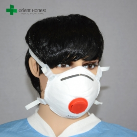 China FFP3 respirator masks for mining industry , protective dust proof face mask , safety disposable asbestos mask factory