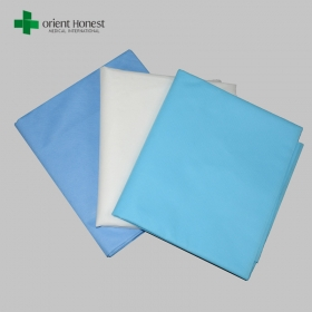 China Factory for disposable medical bed sheet, non woven one time use sheets, flame resistant hotel flat sheet factory