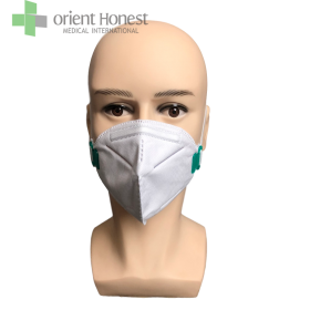 China Folded PP disposable N95  breathing filter face mask with earloop factory
