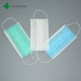China Hospital medical face mask sale , funny face disposable surgical mask , pleated simple design mask factory