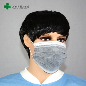 China Industry uses activated carbon masks, medical carbon mask, 4plys disposable face mask with a carbon filter factory