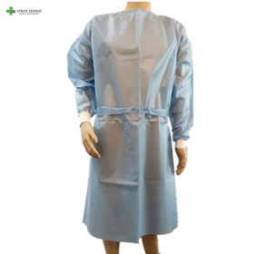 China Level 3 ultrasonic seam disposable isolation gown factory