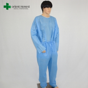 China Manufacturer Disposable SMS Two Piece Overall Suits Blue China factory