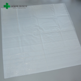 China PE bed sheet for hospitals , waterproof disposable plastic sheets , one time use polyester bed sheet factory factory