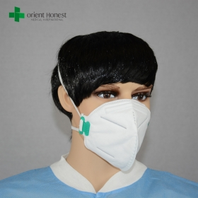 China PM2.5 fold-flat dust masks , green flat fold dust mask , fold flat particulate respirator with and without valve factory