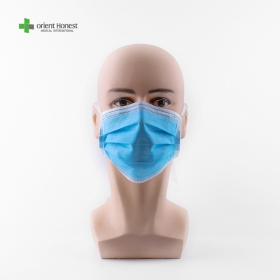 China Protective Face Mask Disposable Non woven Face Mask Anti Virus Dust Mask Ear loop Disposable Masks 3 Ply Surgery Face Mask factory