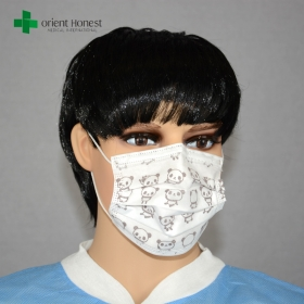 China Single use children cartoon face mask , cool surgical masks , custom printed medical mask factory
