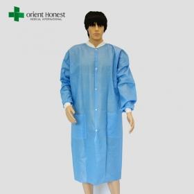 Cina pabrikSurgical Lab coat with knitted cuffs medical supplier