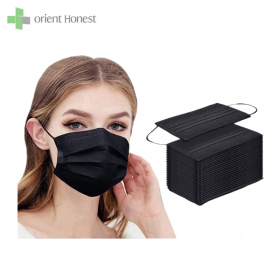 China Surgical Safety Black Face Mask factory