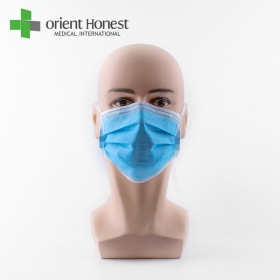 China The disposable 3 ply PP nonwoven tie on face mask fábrica