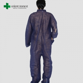 Chine Robes d'isolation jetables bleues de taille universelle de contact personnel en Chine usine