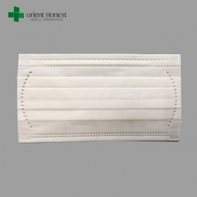 China Xiantao factory for 99% Filtration disposable 3ply flat earloop doctors masks 165 90MM factory