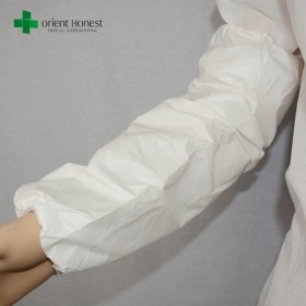 China breathable waterproof sleeve cover,  white microporous films sleeve cover, disposable arm sleeve  covers factory
