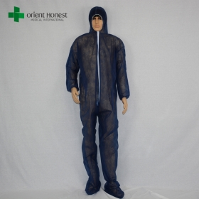 China cheap disposable dust proof coveralls,disposable pp coveralls workshop, disposable coverall with boots cover factory