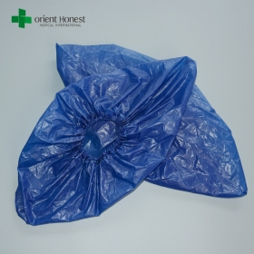 China disposable cheap CPE shoe covers,medical disposable shoe covers,dark blue medical shoe cover, factory