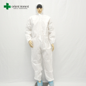China disposable coverall white,disposable coverall with hood,disposable coverall type 5 non woven factory