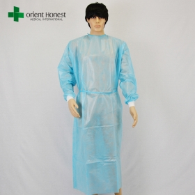 China disposable gowns with knitted cuffs factory