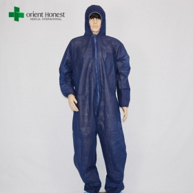 China disposable hooded coverall,disposable overall suit ,disposable protective clothing factory