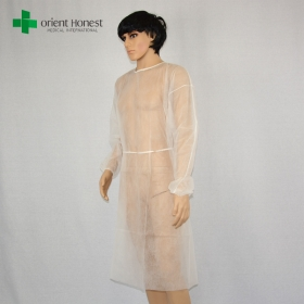 China disposable long sleeve isolation gown,China factory disposable nonwoven isolation gown,medical non-woven isolation gowns factory