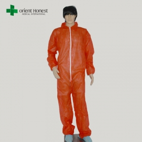 China disposable non woven coveralls, non woven disposable coverall suppliers, disposable pp non woven coverall factory