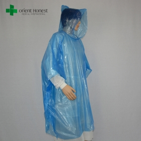 China disposable raincoat China factory, disposable rainsuit blue, waterproof poncho manufacturer factory