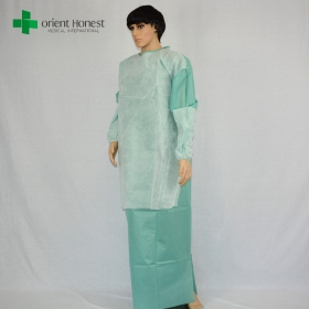 China disposable surgical gown reinforced,SMS surgical gown with reinforced layer,China surgical gown with ties for sale factory