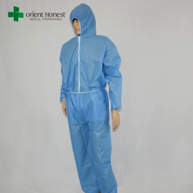 Chine vêtements jetables de virus de protection, bleu virus fabricant de vêtements de protection, des vêtements médicaux jetables safty de virus usine