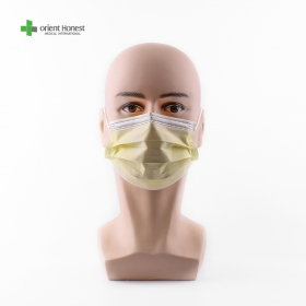 China disposable yellow face mask for daily protection factory