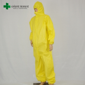 China high quality industrial safety coveralls, China plant chemical protective coverall, disposable factory protective suits factory