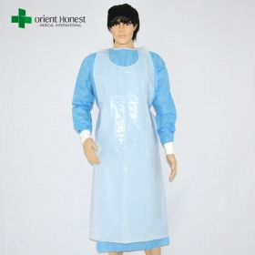 China medical disposable apron ,best medical hospital apron wholesale,china plastic aprons suppliers factory