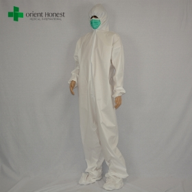 China microporous disposable safety coverall,white disposable paiting overalls,disposable plastic coveralls supplier factory