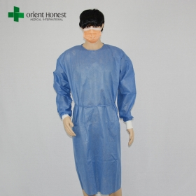 China non-sterile surgery disposable gowns,non-woven fabric surgical gown for sales,China spunlace surgical gowns factory