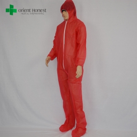 China the best disposable hood and boot coveralls ,China water repllent safety coverall,the best manufacturer for cleanroom suits factory